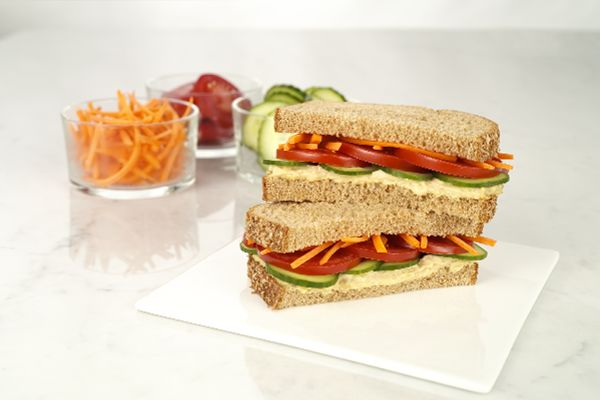 Hummus vegetable Sandwich | DEFINITELY MUST TRY THIS! | Pinterest