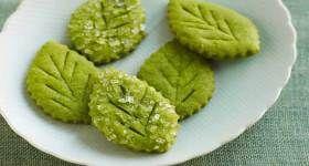 Matcha Tea Leaf Shortbreads Recipe | Matcha Dessert | Pinterest