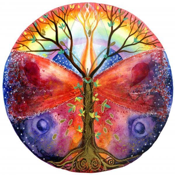 Rainbow butterfly tree of life