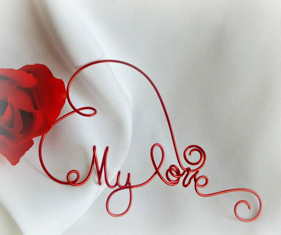 Valentine Gifts For Him Or Her My Love by HomesAndWeddings on Etsy, $ ...