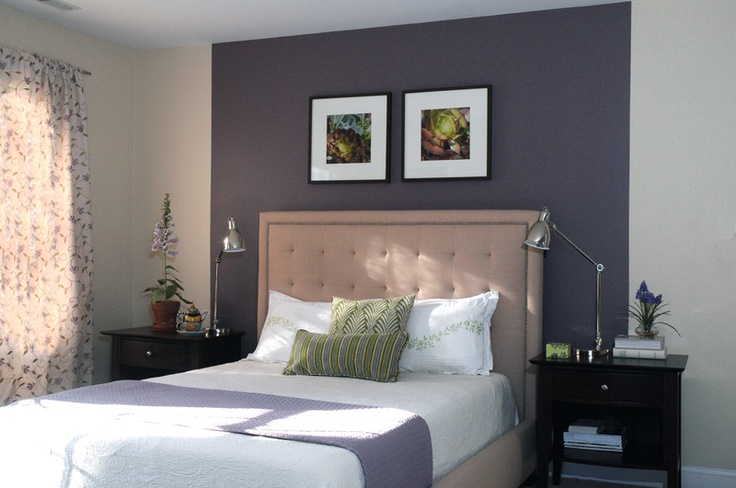 Purple accent wall in master ved room home sweet home - Purple accent wall in bedroom ...