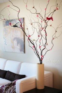 decorative branches with flowers