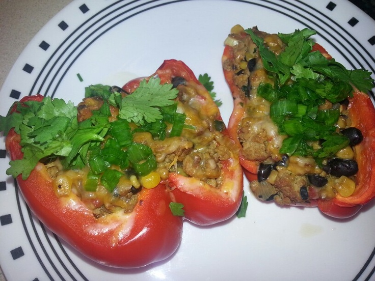 ... www.skinnytaste.com/2012/09/santa-fe-turkey-stuffed-peppers.html?m=1