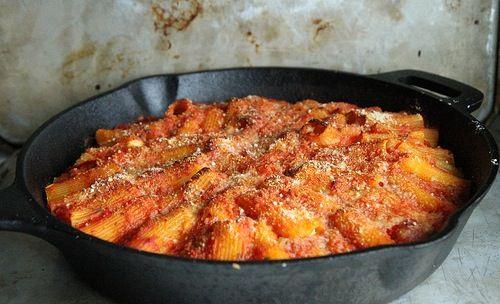 Skillet Baked Stuffed Rigatoni   Food   Pinterest
