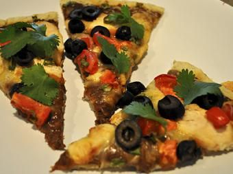 Black bean mexican pizza | Paleo or Gluten free | Pinterest