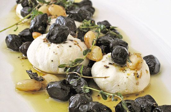 Goat Cheese With Olives, Lemon, and Thyme | Recipe