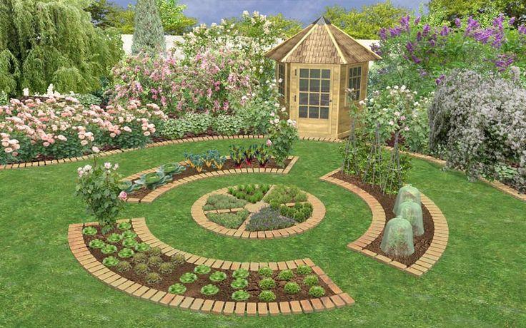 Potager garden design potager gardens pinterest for Potager garden designs