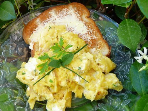 Herb Cream Cheese Scrambled Eggs. Photo by BecR