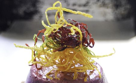 ... Recipes - Blueberry Flan with Lavender Syrup & Triple-Candied Citrus
