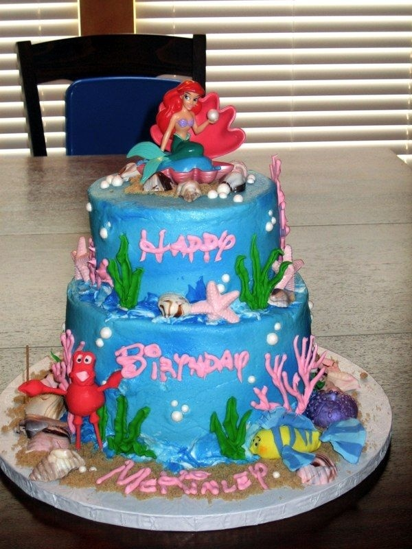 Birthday Cake Images Disney : ariel birthday cake Ariel Princess Birthday Party ...