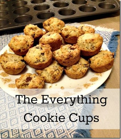 the everything cookie cups made with granola, chocolate chips, and ...