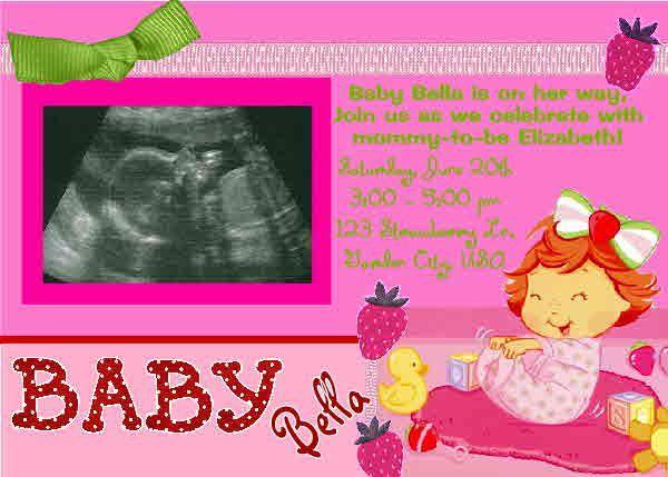 strawberry baby shower themes strawberry shortcake ultrasound baby