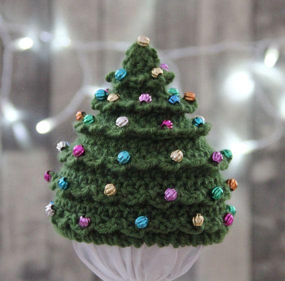 Christmas CROCHET PATTERN HAT Christmas Tree in 5 Sizes 0 ...