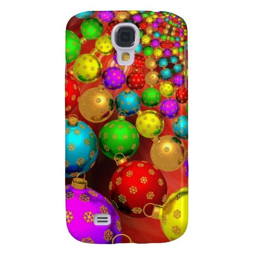 Floating holiday ornaments samsung galaxy s4 case