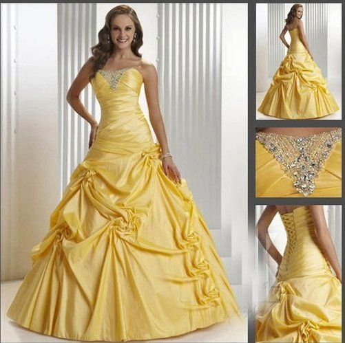 Yellow wedding dress my style pinterest for Can a yellowed wedding dress be whitened