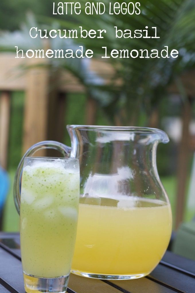 ... to make homemade lemonade {Basic Recipe and Cucumber Basil Lemonade