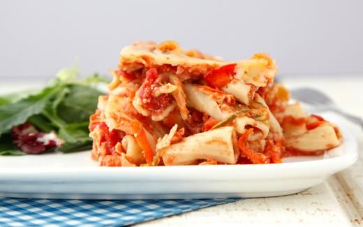 Crock Pot Vegetable Ziti   A slow cooker take on the classic baked ziti