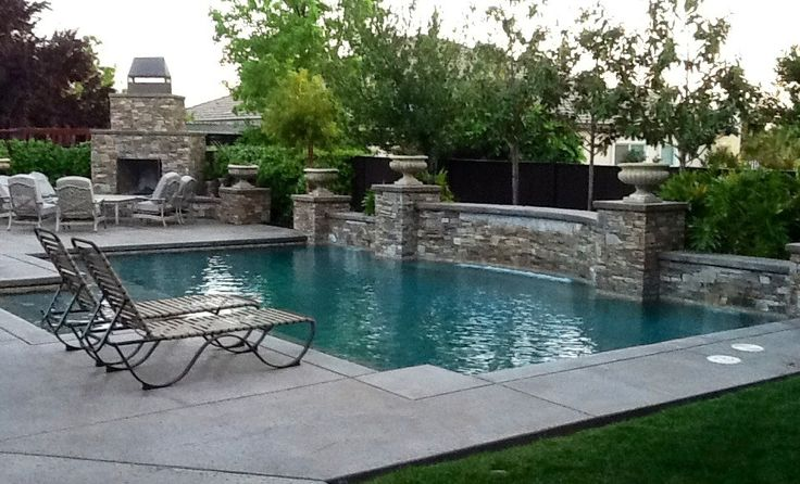 Pin by kim clayton weimer on yard pinterest for Luxury pools with waterfalls