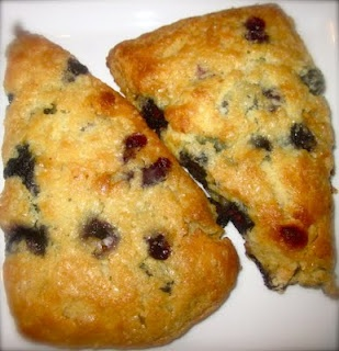 blueberry white chocolate scones | Breakfast food | Pinterest