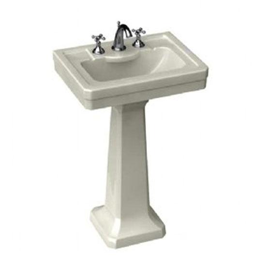 Porcher Pedestal Sink : Porcher 24020-03.001 Lutezia 28 Inch Widespread Pedestal Sink With 8 ...