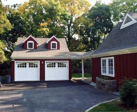 Garage addition detached garage pinterest for Detached addition