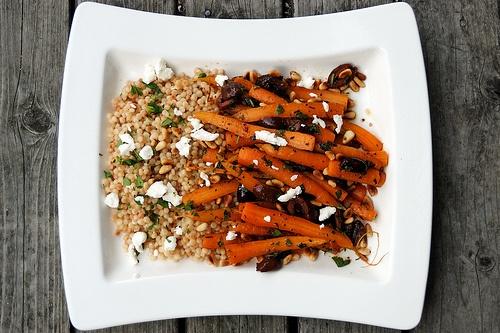 Moroccan Baby Carrot Salad   bon appetit. légumes.   Pinterest