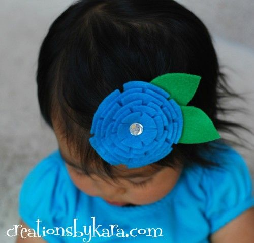 Darling stacked felt flowers- they make great hair clips! ~ Creations ...