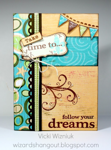 Wizard's Hangout: Take Time to Follow Your Dreams... 5x7 Footloose Card