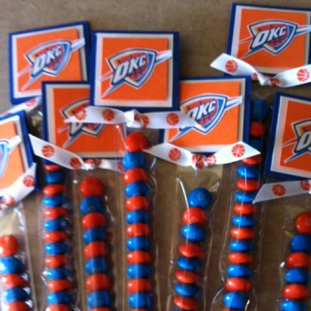 oklahoma thunder birthday ideas | Party favors for child's okc thunder ...