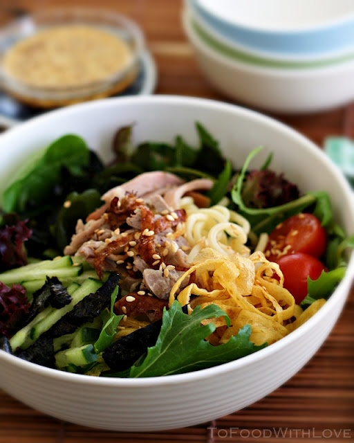 Hiyashi Chuka is a Japanese cold noodle salad usually served in summer ...
