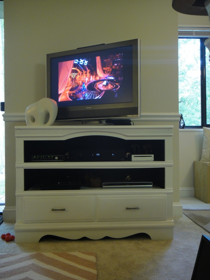 Divano Letto Friheten Ikea Usato ~ Dresser turned TV stand  oh, maybe someday  Pinterest