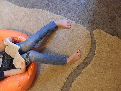 DIY area rugs on the cheap.