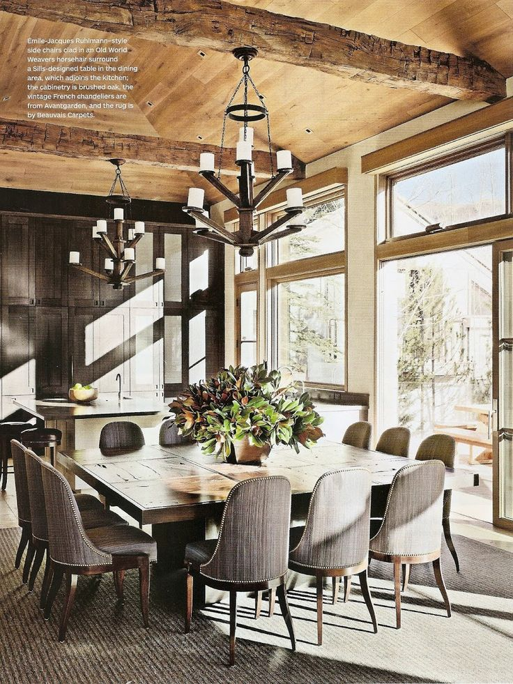 Rustic chic dining room via ad rustic charm pinterest for Rustic dining room table
