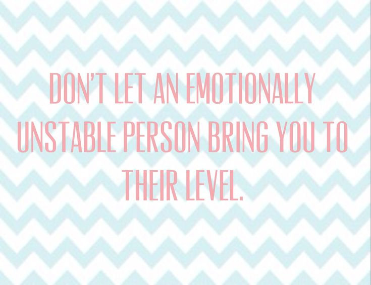 emotionally unstable women zero