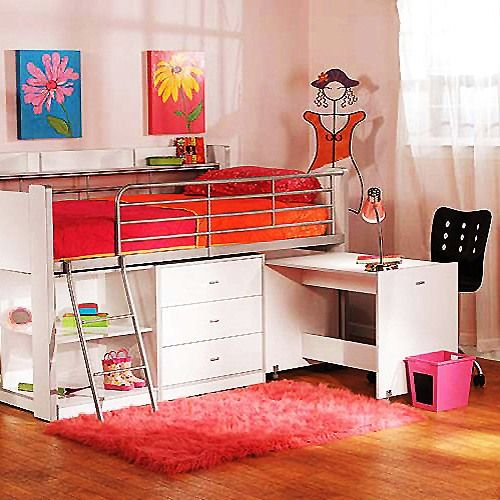 Loft bed with desk ikea ikea pinterest - Bed with desk ikea ...
