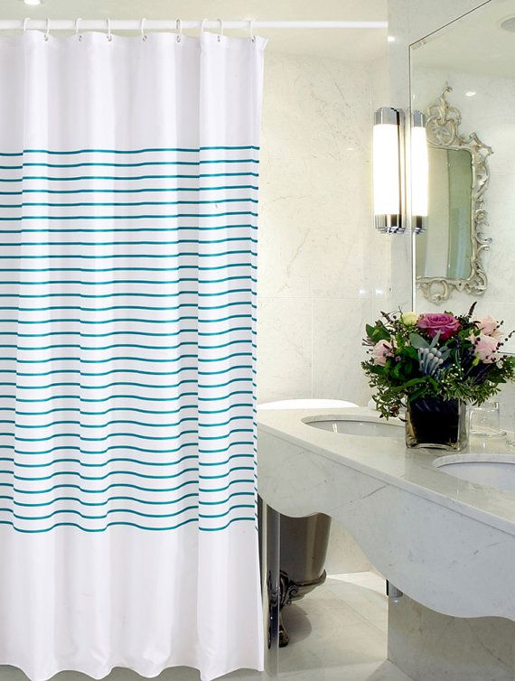 Horizontal Stripe Shower Curtain Horizon Shower Curtain