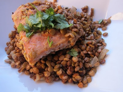 lentils dinner 1 of 2 salmon dinners salmon with lentils and mustard ...