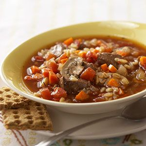 Slow Cooker Beef and Barley Soup | Beef | Pinterest