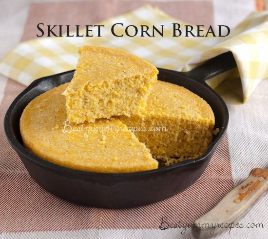 Skillet Corn Bread | Recipes I'll Try | Pinterest