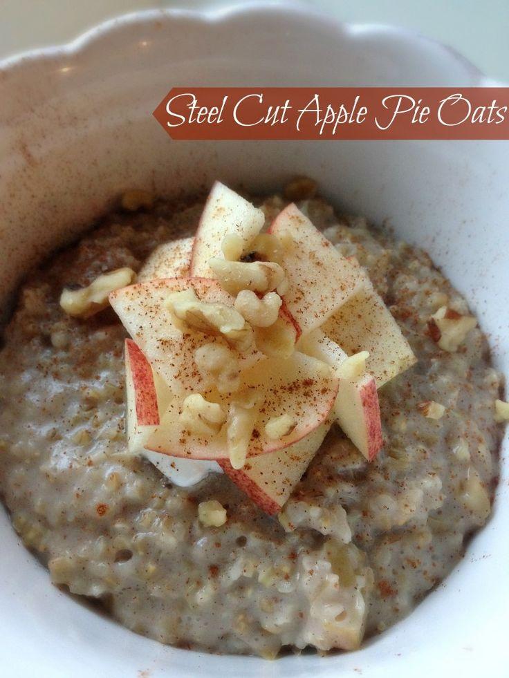 Steel-Cut Apple Pie Oats   Dishing Out Health   Pinterest