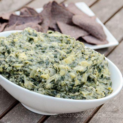 Healthier Creamy Spinach Artichoke Dip | Food Stuffs. | Pinterest