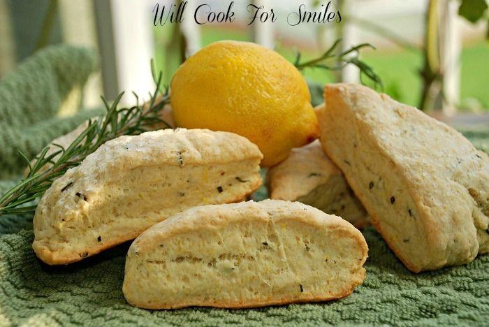 Rosemary Lemon Savory Scones | Foods & Drinks | Pinterest