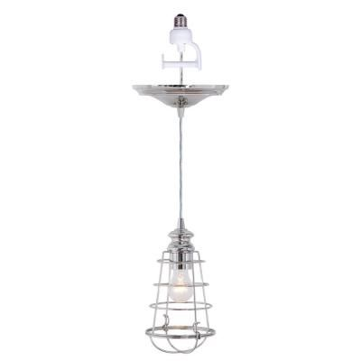 light brushed nickel instant pendant light conversion kit and wire. Black Bedroom Furniture Sets. Home Design Ideas