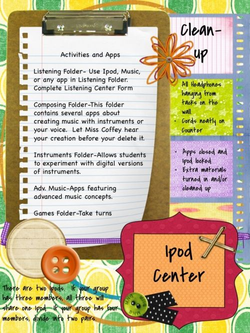 ipod center for the music classroom: great idea!