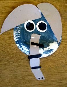 Paper plate elephant craft for kids crafts baby amp kids pinterest