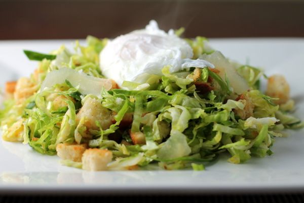 Shredded Brussels Sprout Salad with Warm Lemon-Chili Vinaigrette   Re ...