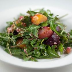 ... Salad with heirloom beets, Gorgonzola, Toasted Walnuts and Arugula