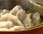 Steamed Chicken Mince and Shiitake Mushroom Dumplings (with Dipping ...
