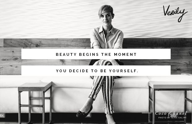 """""""Beauty begins the moment you decide to be yourself."""" -Coco Chanel #dailydose"""
