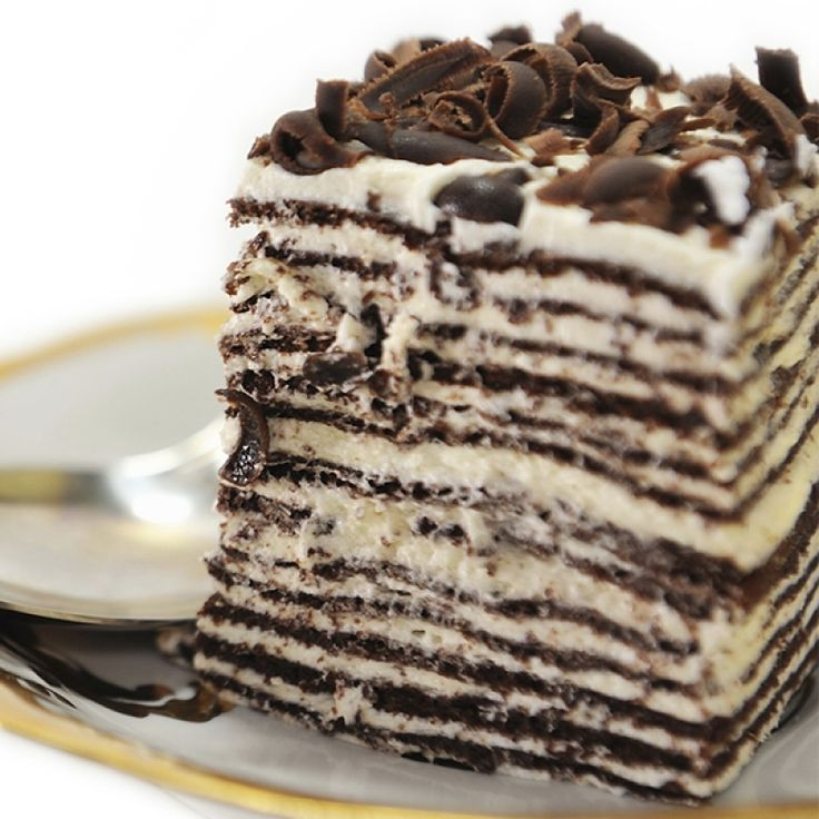 Dark chocolate crepe cake | Chocolatey Chocolate! | Pinterest